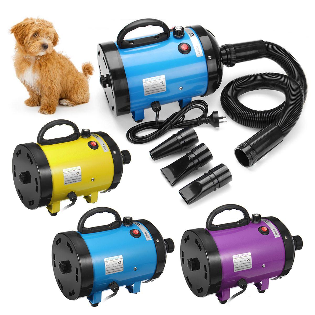 2800 W Geräuscharm Pet Haar Trockner Hund Katze Pflege Trockner Gebläse Heizung Einstellbar Temperatur Gebläse Pet Blasen Maschine