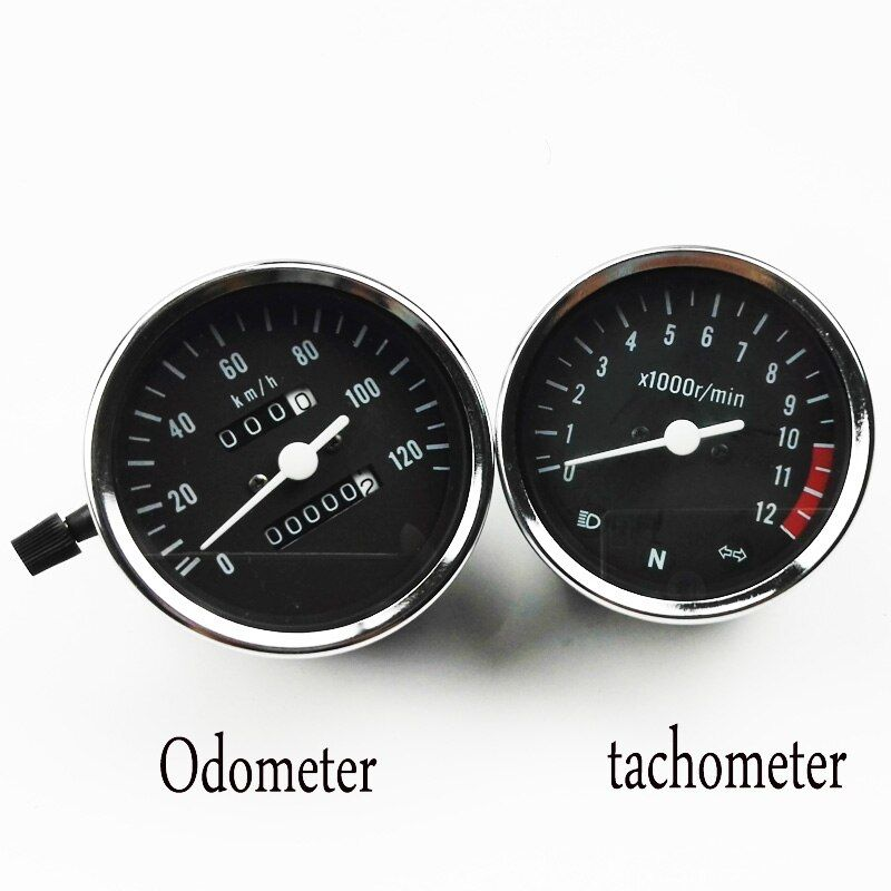 Universal Motorcycle Motor Instrument GN125 Tachometer Motorcycle Odometer For Suzuki GN125 Motorcycle Parts