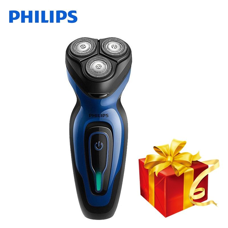 Philips Electric Shaver YQ6008 Rotary Rechargeable Whole Body Wash 100-240V Triple Blade Face Beard Electric Razor For Men