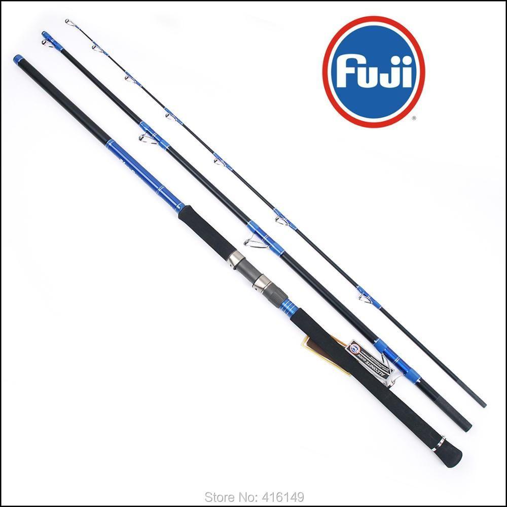 express shipping Ecooda BLUE OCEAN all Fuji components boat fishing rod 9' 10' 11'6 65lbs