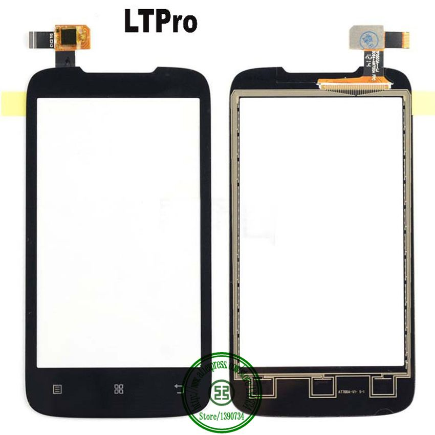 LTPro TOP Quality Front Outer Glass Panel Touch Screen Digitizer For Lenovo A369 A369i Black Phone Replacement Parts