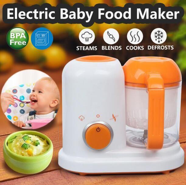 Electric Baby Food Maker All In One Toddler Blenders Steamer Processor BPA Free Food-Graded?PP EU?AC 200-250V Steam Food Safe