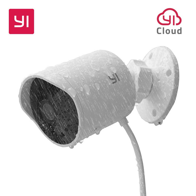 YI Outdoor Security Camera Cloud Cam Wireless IP 1080p Ceiling Outdoor Ip Camera Night Vision Security Surveillance System White