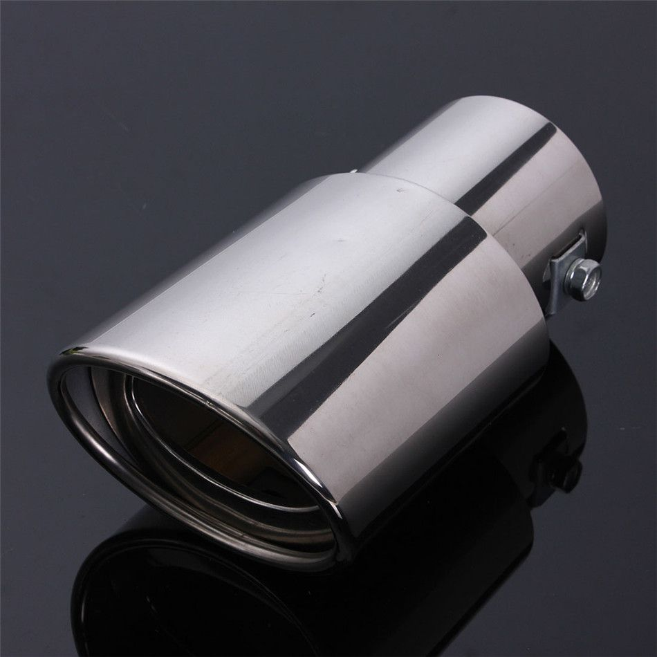 Universal Stainless Steel Car Tail Rear Chrome Round Exhaust Pipe Tail Muffler Tip