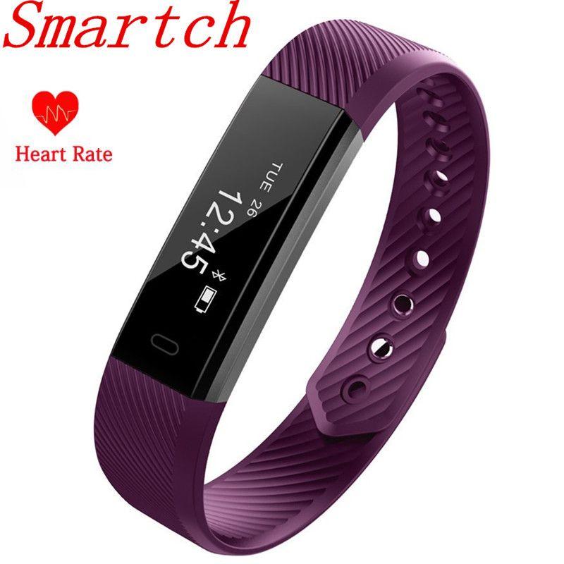 Smartch ID115 HR Armband Pulsmesser Smart Armband Band FitnessTracker Wasserdichte Bluetooth für Android IOS VS Fitbits