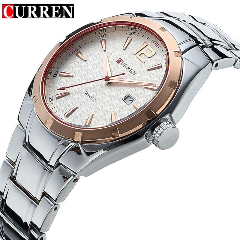 CURREN Mens Watches Top Brand Luxury Hour Date Clock Full Steel Men's Sports Quartz Watch Army Military Watch Relogio Masculino