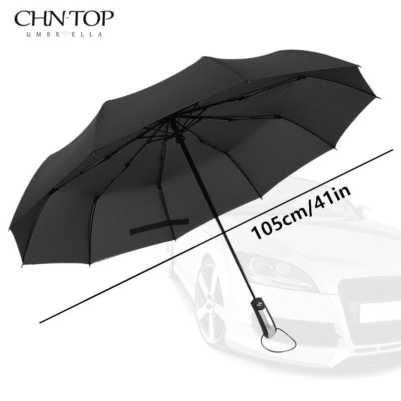 Résistant Au vent Pliage Automatique Parapluie Pluie Femmes Automatique De Luxe Grand Coupe-Vent Parapluies de Pluie Pour Hommes Noir Revêtement 10 K Parasol