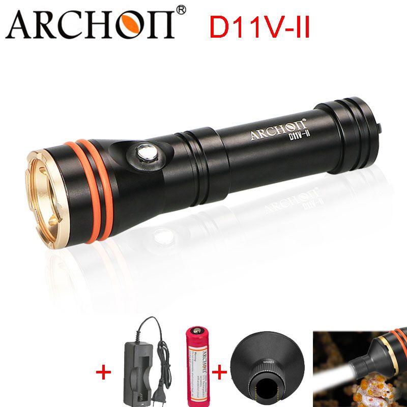 Sea Diving Flashlight ARCHON D11V-II Photography Diving Light Video Light 100M Underwater Snorkeling Torch Max 1200 lumens