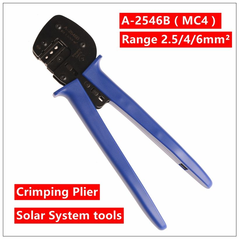 MXITA A-2546B(MC4) crimping tool crimping plier 2 multi tool tools hands Solar Photoroltaic Connector MC3/MC4 Crimping Tool