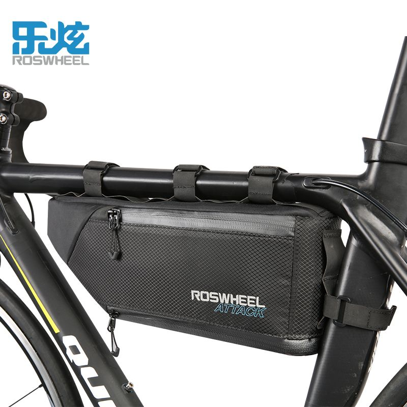 ROSWHEEL ANGRIFF 2017 100% Wasserdichte Fahrrad Tasche Bike Zubehör Lagerung Front Rahmen Rohr Triangle Bag Radfahren Fest installieren