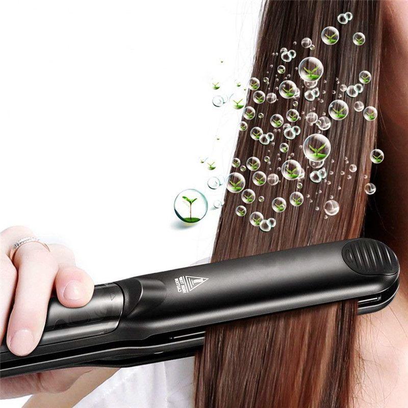 Steam Hair Straightener iron Argan Oil Electric Brush Flat Iron Tourmaline Ceramic Vapor Injection Painting 450F Straightening