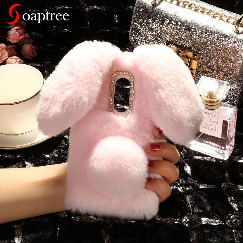 Luxury Rabbit Fur Case For Lenovo Vibe S1 Lite S1La40 Phab 2 Plus C2 Power k10a40 K3 K8 K5 Note Plus Play Zuk Z2 Z5 S850 A5 Case