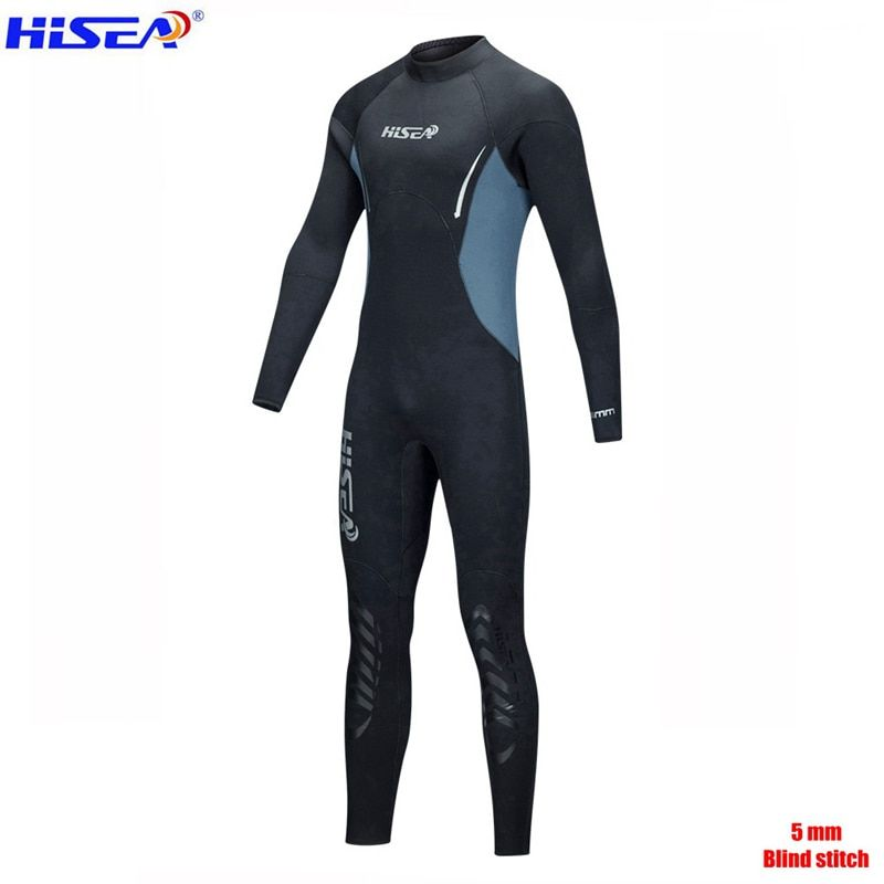 SEAC Men Women Professional 5mm Neoprene Warm Wetsuit Blind Stitch Villus Lining Spearfishing freediving Sealed Diving suit