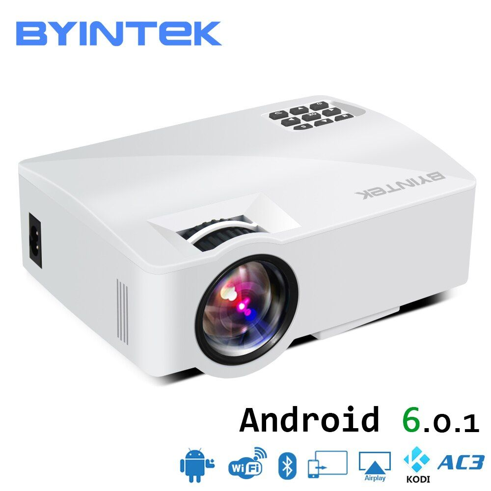 BYINTEK SKY L5 Mini LED Portable Video Projector Proyector Beamer for Home Theater Support Full HD 1080P (Optional Android 6.0)