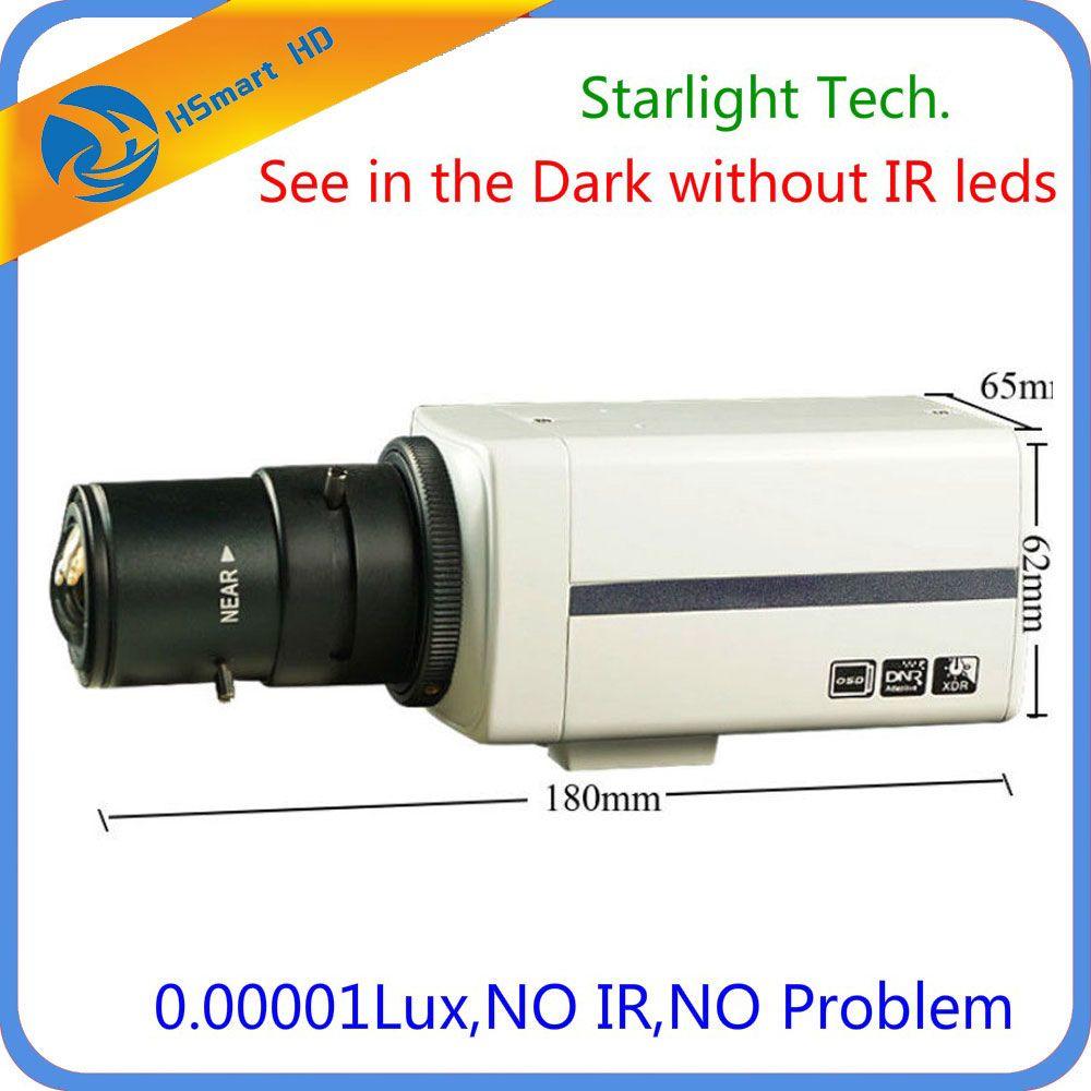 Sony Super HAD CCD 700TVL 6-22mm DSP EFFIO-E Super low light Starlight Box Camera with 2.8-12mm CS Lens 0.00001 lux