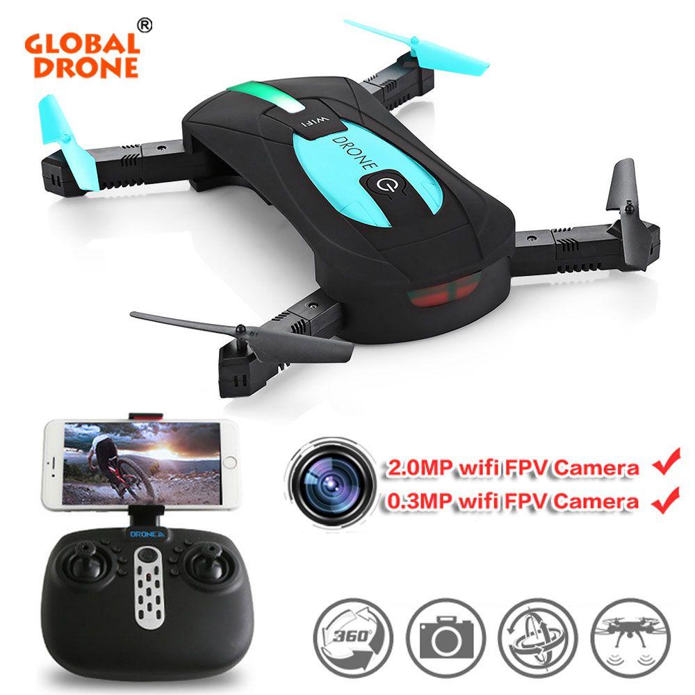 Global Drone JY018 Selfie Mini Pocket Dron Folding Arms Headless Mode <font><b>Quadcopter</b></font> Drone With Camera HD VS Eachine E52