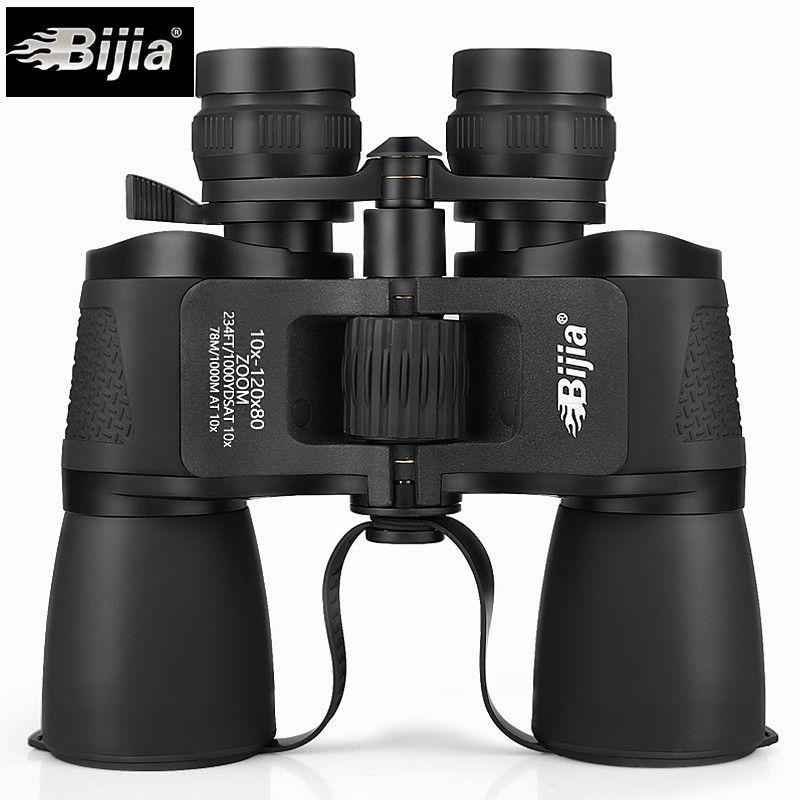 Bijia 10-120x80 Profi-binokel HD Binocolos Flexible Schwerpunkt Long Range Zoom Stickstoff Wasserdicht Teleskop Jagd