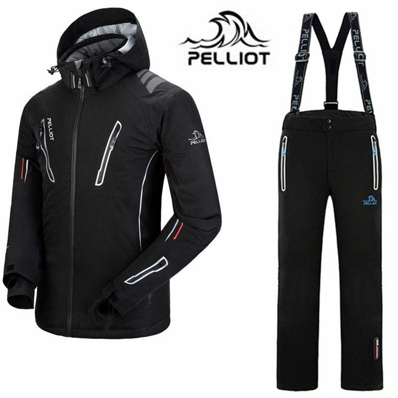 Pelliot Marke Skianzug Männer Wasserdichte Ski Jacke Snowboard Hosen-30 Super Warm Outdoor Ski Snowboard Anzüge Winter Skifahren Set