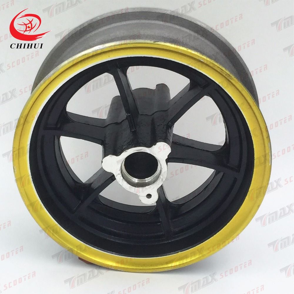 Scooter Wheel Hubs 13*5.00-6 Front Wheel Rims Aluminium Alloy Wheel Hub for 13*6.5-6 Tubeless Tyre (Scooter Parts & Accessories)
