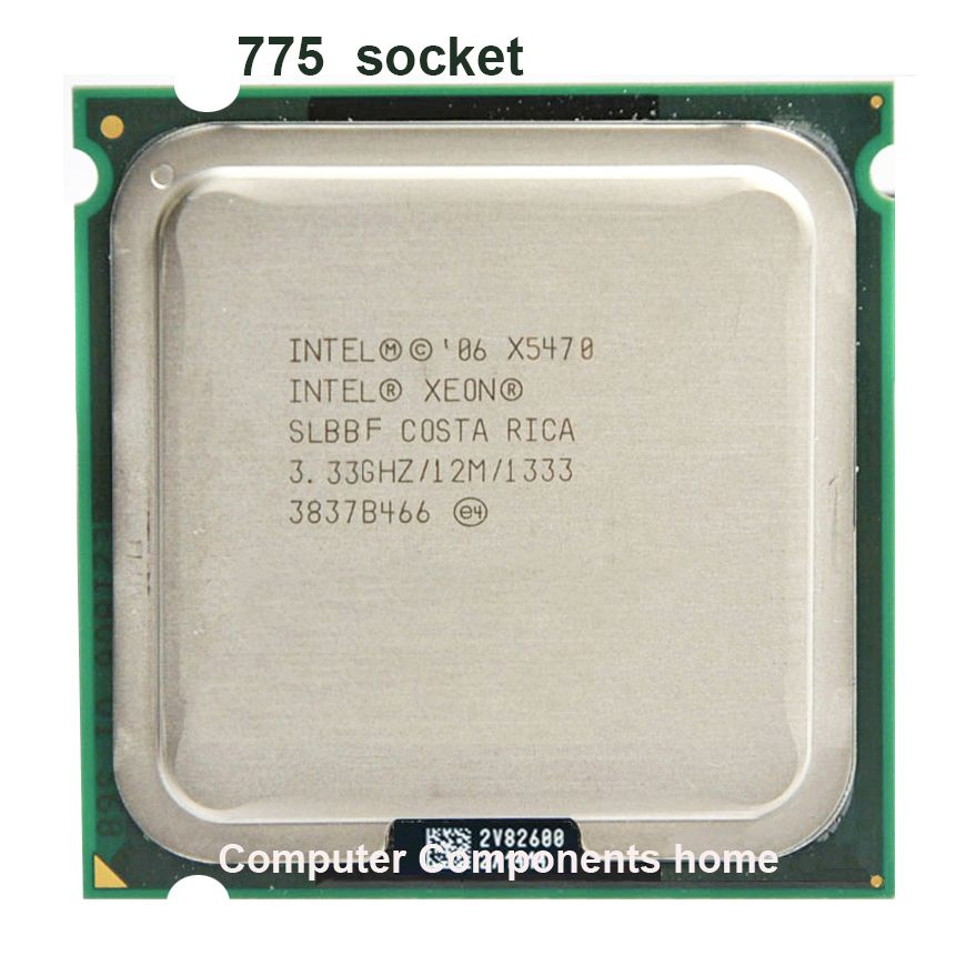 Processeur d'unité centrale INTEL xeon X5470 LGA775 (3.33 GHz/LGA771/12 mo Cache L2/Quad Core/FSB 1333) scoket 771 à 775 garantie CPU 1 yera