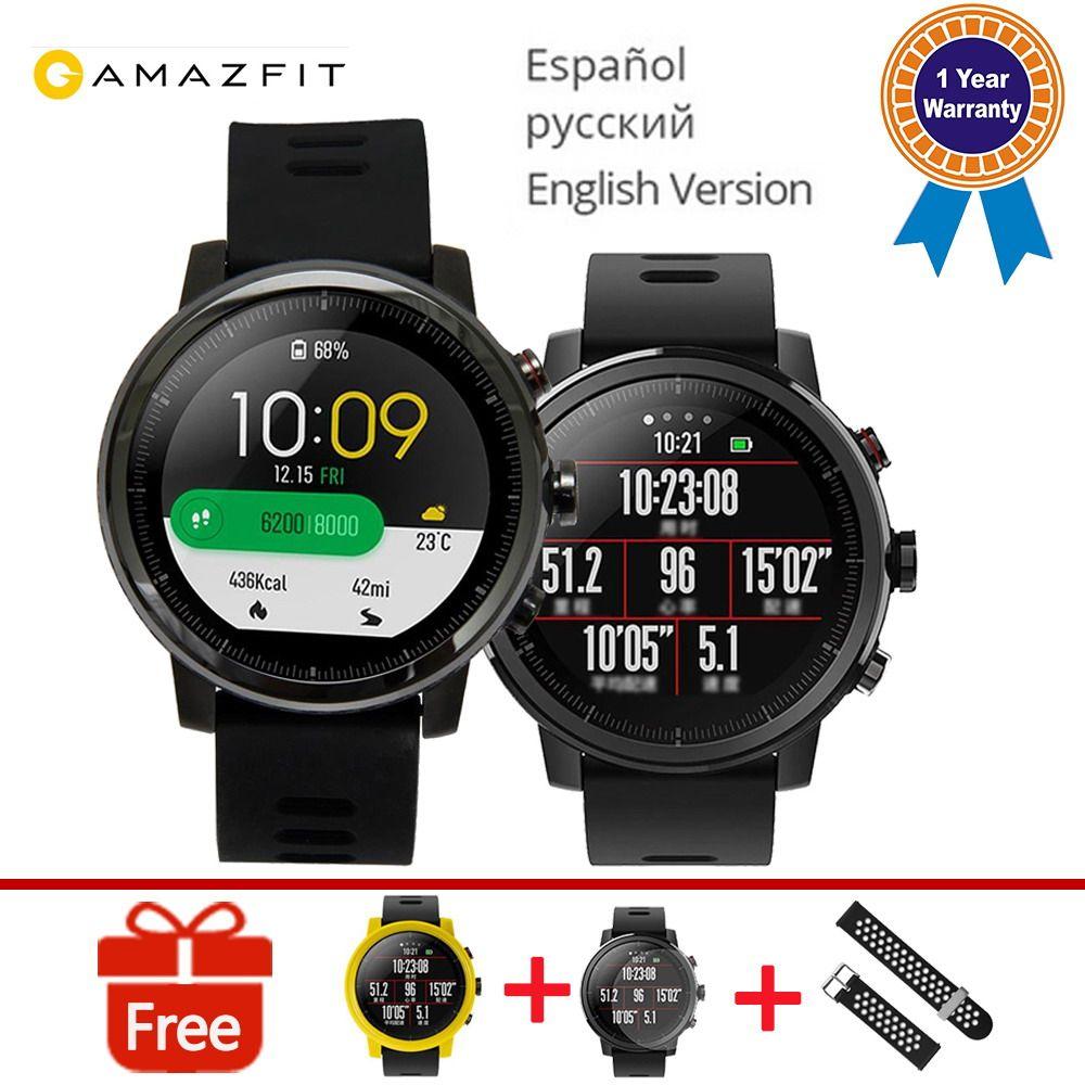 original Xiaomi HUAMI AMAZFIT Man Woman Activity Tracker Smart Sports Watch 2 Version 1.34'' 2.5D Screen 5ATM Water GPS Watchs