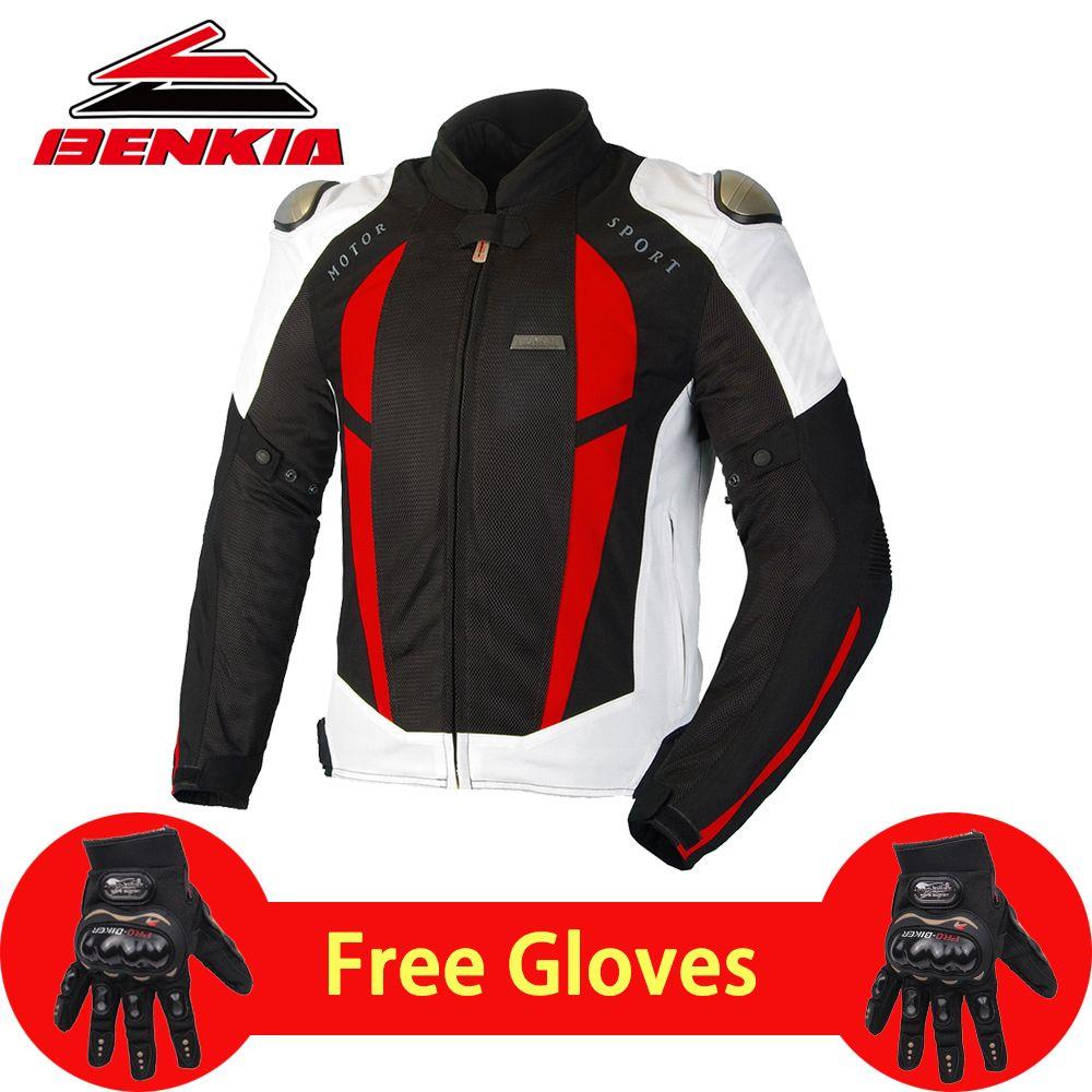 BENKIA Summer Motorcycle Jacket Men Racing Clothes Spring Autumn Mesh Breathable Riding Body Armor Protective Moto Jacket JW68