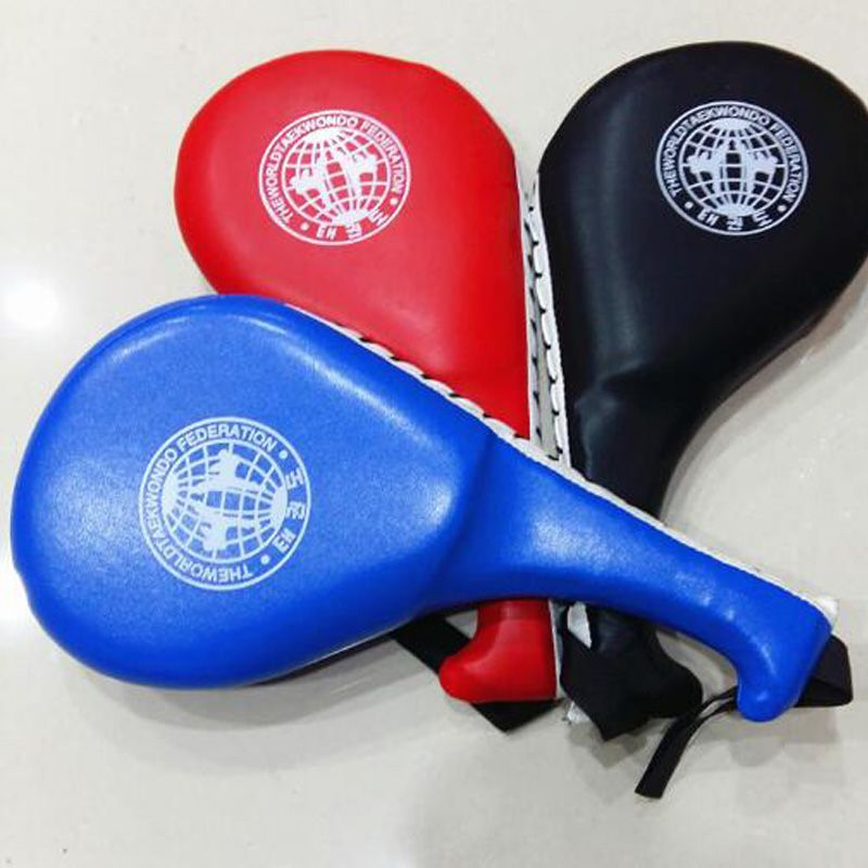 Taekwondo Multifunctional Hand Held Double Leafed Chicken Foot Target Professionally Designed To Absorb Punches And Kicks