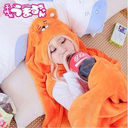 Umaru Chan Аниме Косплей Костюм Himouto Umaru-Chan плащ Doma Umaru мягкий плащ с капюшоном вечеринка Хэллоуин костюм для женщин