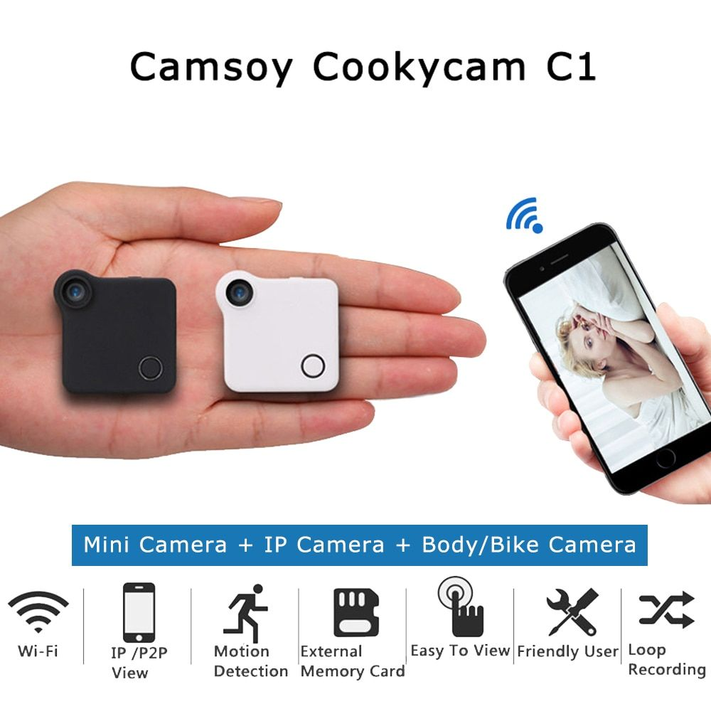 C1 Mini Camera HD 720P C1 WIFI P2P Wearable IP Camera Motion Sensor Bike Body Micro Mini DV DVR Magnetic Clip Voice Recorder