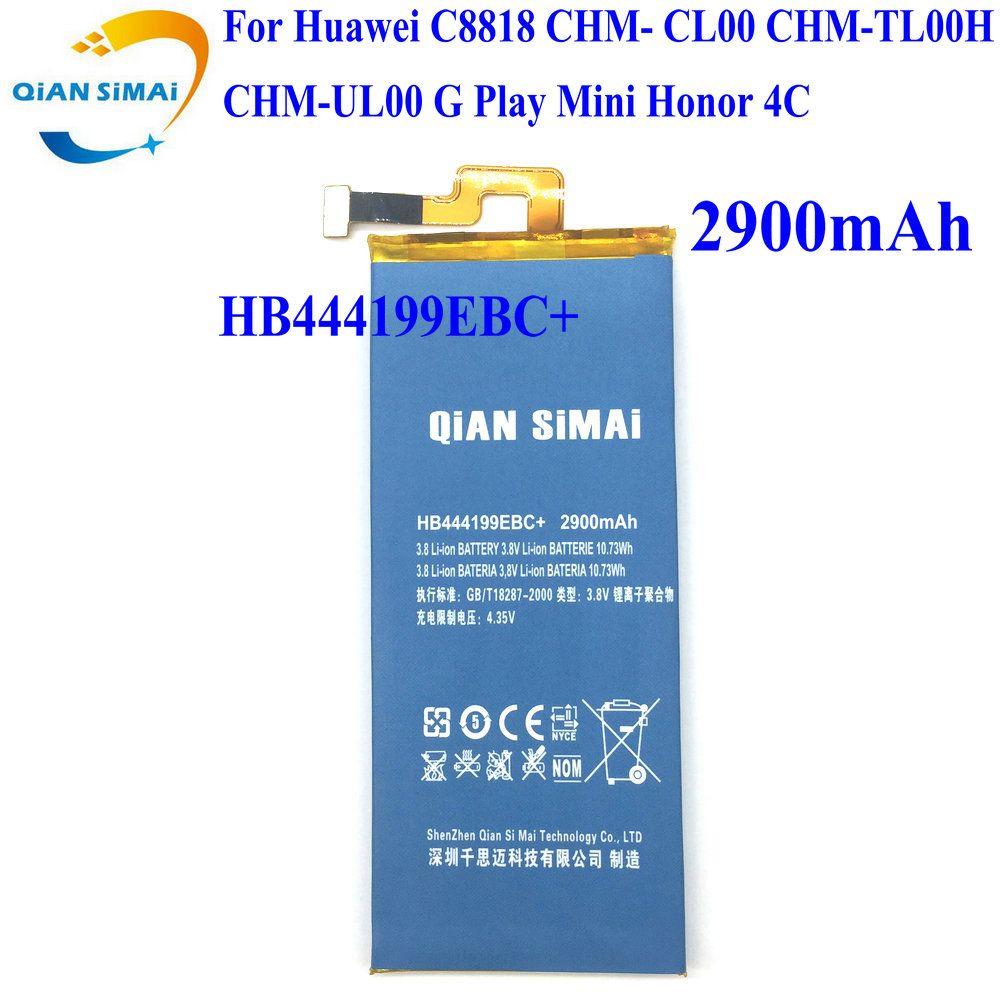 QiAN SiMAi 1 PCS 2017 HB444199EBC + C8818 Batterie Pour Huawei C8818 CHM-CL00 CHM-TL00H CHM-UL00 G Jouer Mini honneur 4C