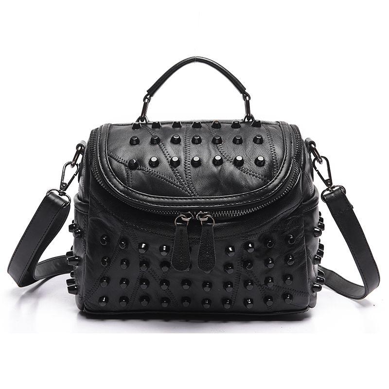 Luxury Women Genuine Leather Bag Sheepskin <font><b>Messenger</b></font> Bags Handbags Women Famous Brands Designer Female Handbag Shoulder Bag Sac