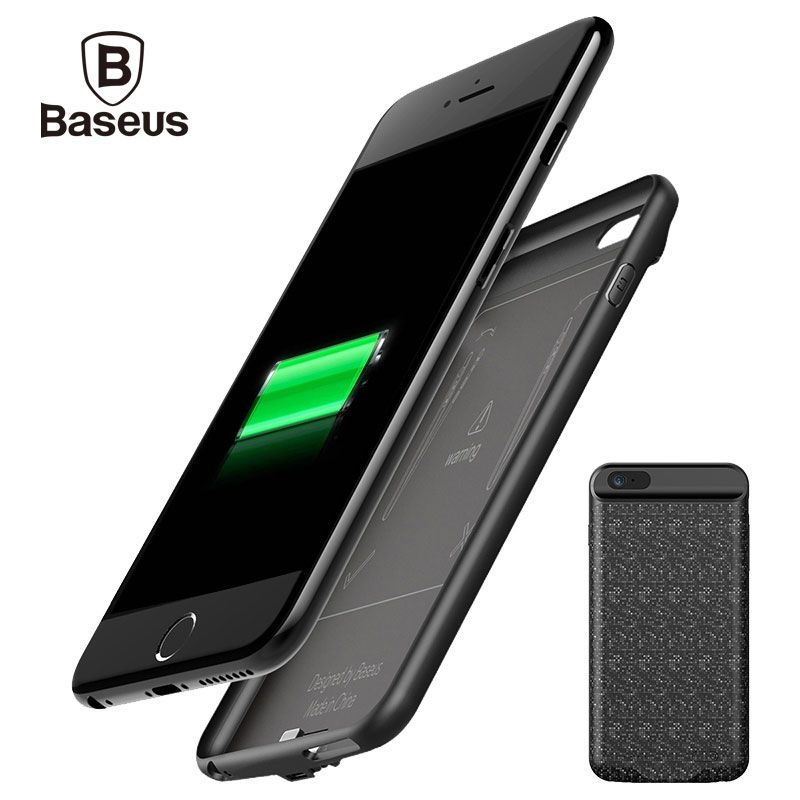 Baseus 5000/7300mAh External Battery Pack <font><b>Backup</b></font> Charger Power Case For iPhone 6S Portable Power Bank Case For iPhone 6 6S Plus