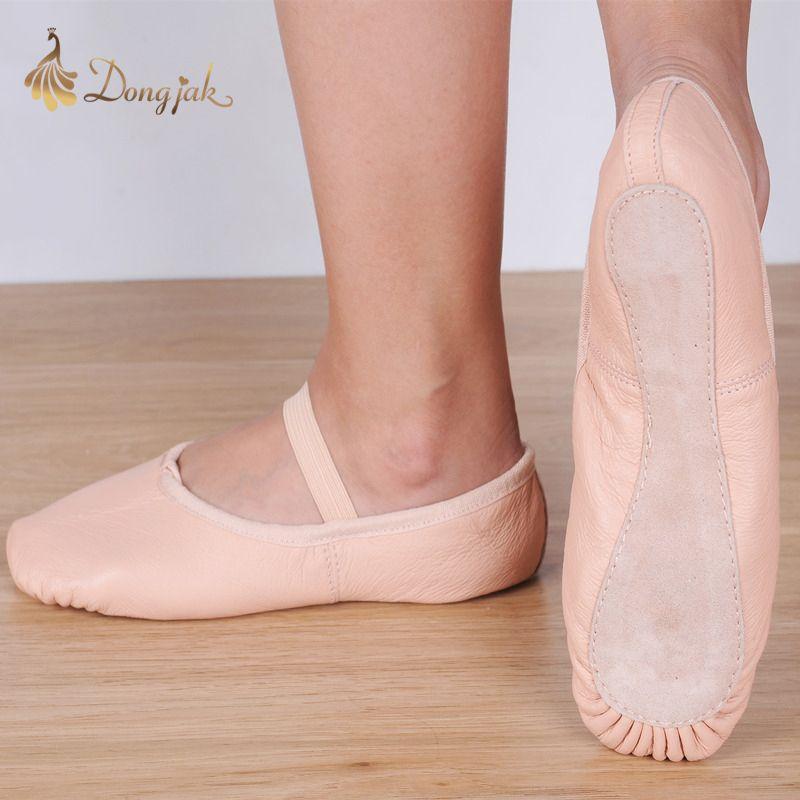 Chaussons plats en toile blanc rose blanc noir salsa chaussures de Ballet pour filles enfants femme Yoga Gym selon la CM à acheter