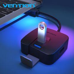 Vention USB концентратор Высокоскоростной 4 порта USB 3,0 концентратор портативный OTG usb-хаб концентратор для Apple Macbook Air ноутбук ПК планшет