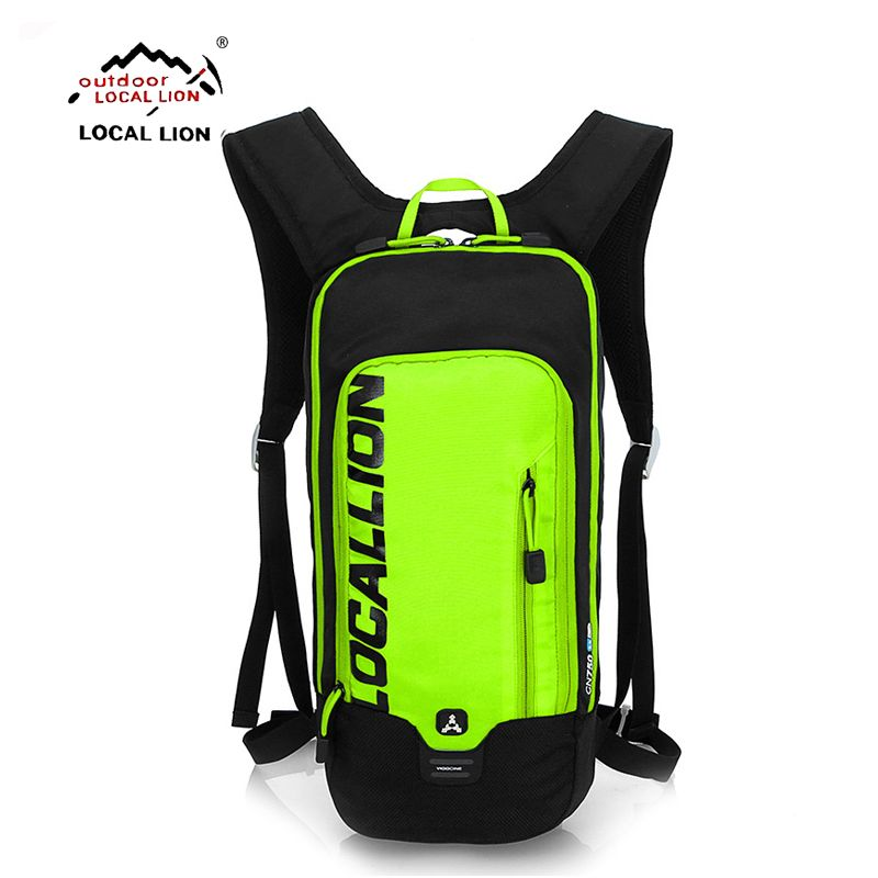 LOCALLION 10L Hydration Bicycle Backpack + 1L TPU Water Bladder Bag Waterproof Cycle Climb Camp Hike Mochilas Pack For Men Women