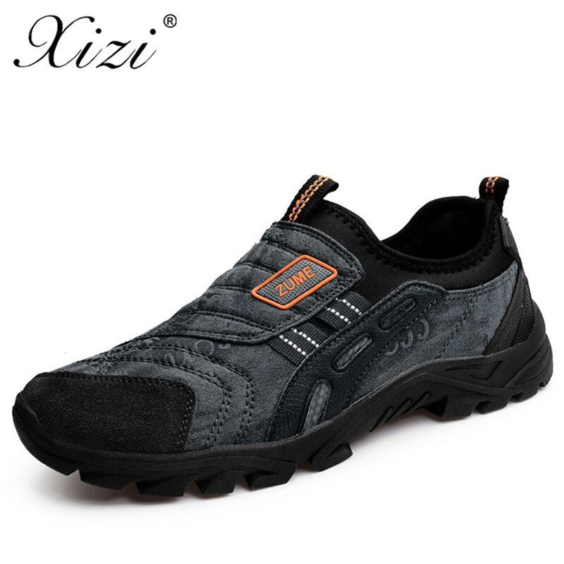 XIZI 2018 Men Real New Medium shoes The Newest Men Sport Hiking Shoes Outdoor Sport Antiskid Athletic Trekking Zapatos Hombre