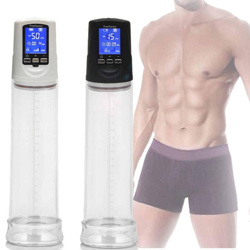 Meselo Penis <font><b>Pump</b></font> Enlargers USB Rechargeable LCD Screen Automatic Penis Enlarger Male Enhancement Electric Pro Extender Sex Toy