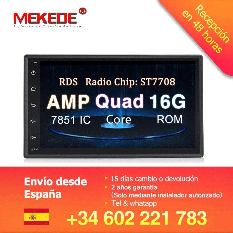 MEKEDE universel 7 ''Android 8.1 voiture GPS DVD Audio RDS cassette pour Nissan Toyota Peugeot KIA voiture multimédia avec wifi 4G SWC