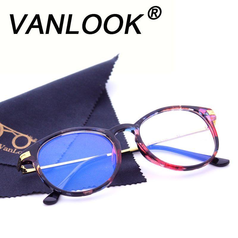 Women Computer Glasses Round Transparent Eyeglasses for Men Spectacle Frame Oculos De Grau Fashion Clear Lenses Anti Blue Ray