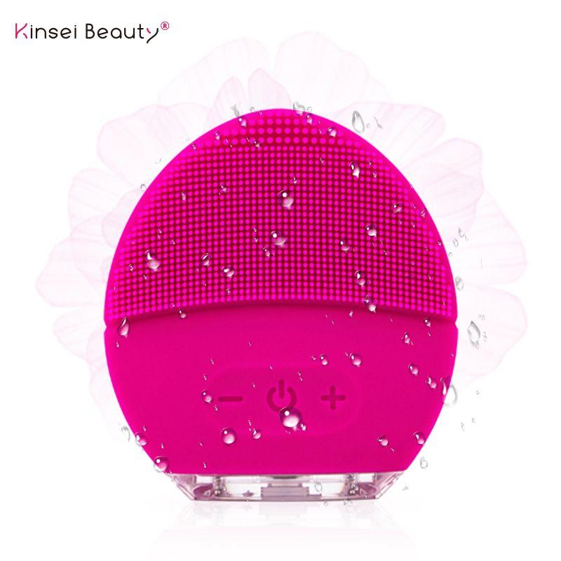 Brosse de nettoyage du visage en Silicone électrique Massage par Vibration sonique outil de beauté de nettoyage du visage Ultra sonique intelligent Rechargeable USB