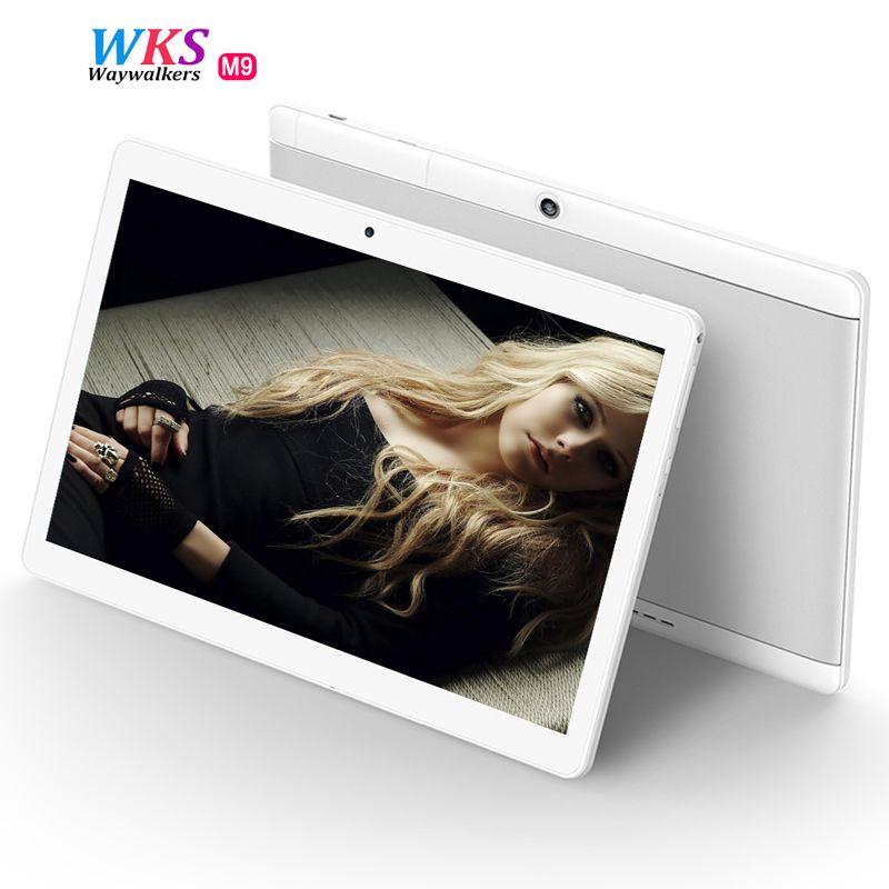 2017 neueste waywalkers 10 zoll Tablet PC 4G Lte Octa-core Android 6.0 RAM 4 GB ROM 64 GB Tabletten Telefon 1920*1200 IPS GPS MTK8752