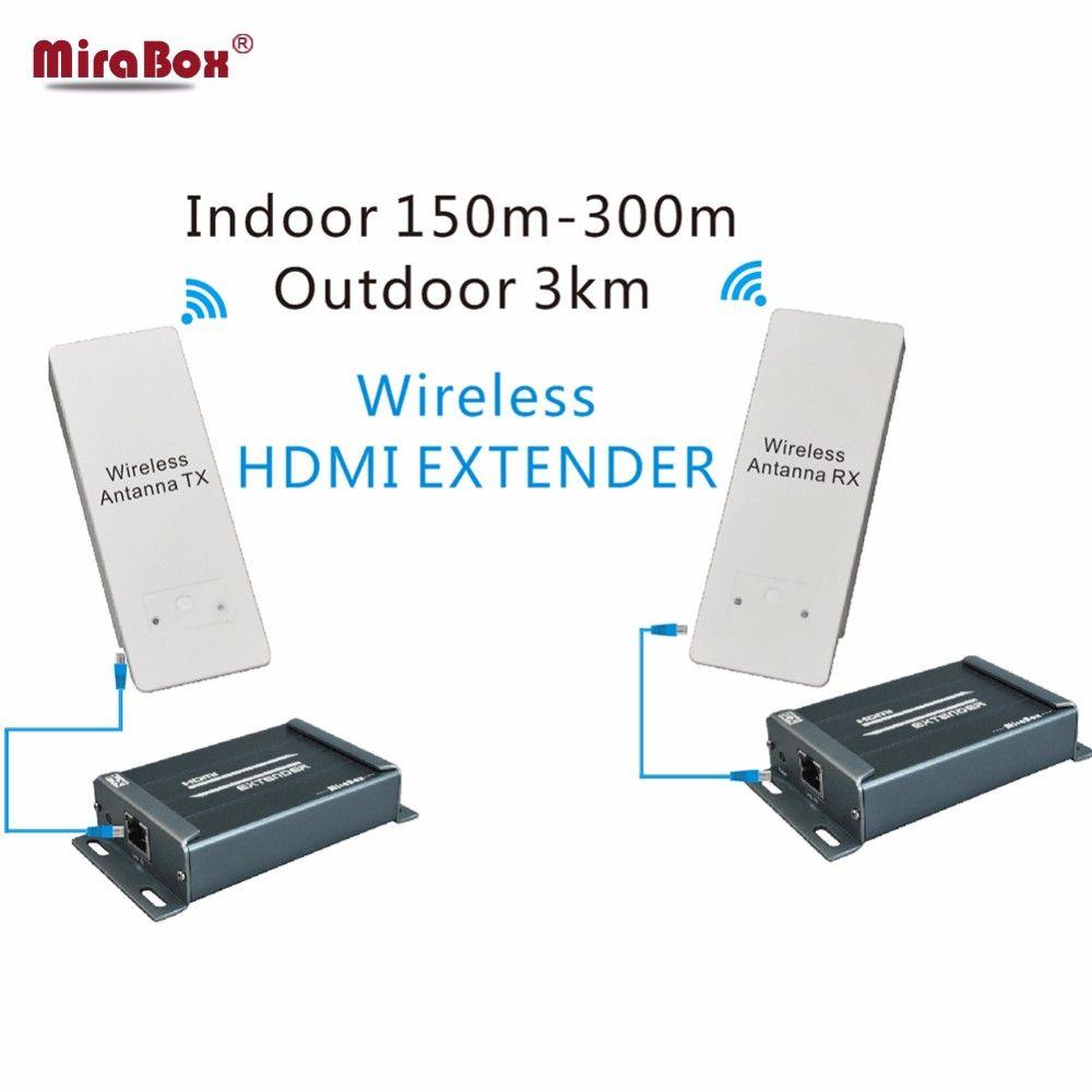 MiraBox 3 KM Drahtlose WIFI HDMI Video Sender Empfänger Audio Extractor 1080 P 5,8 GHz Wireless HDMI Extender Innen 150 mt ~ 300 mt