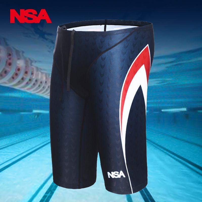NSA Männer Professionelle Swimming Briefs Haifischhaut Unterwäsche Trunks Badebekleidung Plus Größe 5XL Badeanzug Herren Badeanzug Beachwear