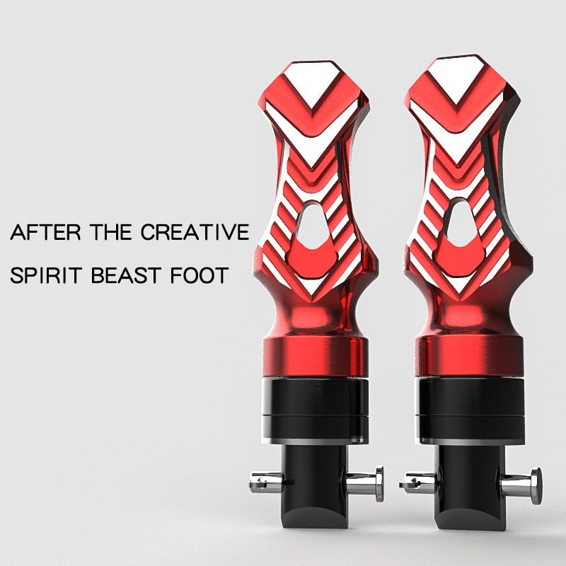 Pedal motorcycle rear foot tripod universal modified off-road car decoration moto creative personality Aluminum Alloy back foot