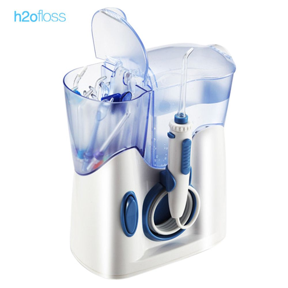 H2ofloss 800ml Electric Oral Irrigator Teeth Water flosser Dental Shower Cleaning Machine Low Noise Water Jet Toothbrush 6 modes