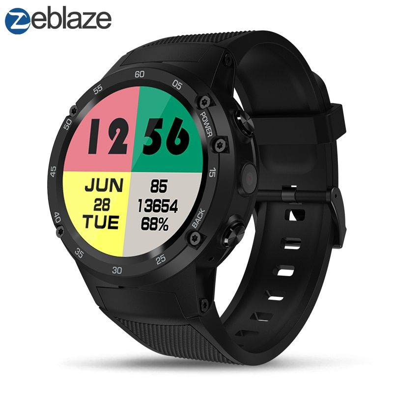 Zeblaze THOR 4 Flagship 4G LTE GPS SmartWatch Android 7.0 MTK6737 Quad Core 1GB+<font><b>16GB</b></font> 5.0MP 580mAh 4G/3G/2G Data Call Watch Men