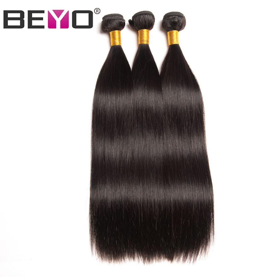 Beyo Indian Hair Straight Hair Bundles Natural Color 100% <font><b>Human</b></font> Hair Bundles Non-Remy Hair Extension 1/3/4 Piece Free Shipping