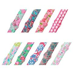 flowers print Silicone Replacement Sport Band  For Apple Watch Series1234 38mm 42mm 44mm 40mm Strap For iWatch Sports Edition