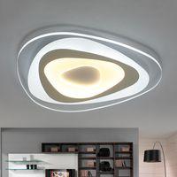 Lámpara de techo led moderna triangular montada en superficie ultrafina para sala de estar dormitorio lustres de sala hogar Dec lámpara de techo
