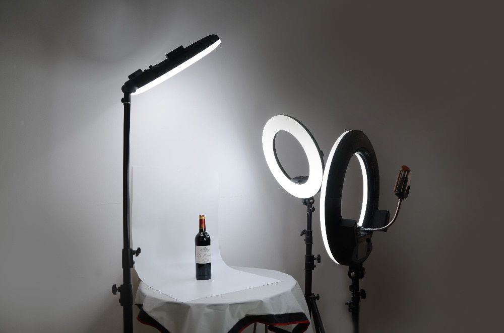 Yidoblo FD-480II Studio Ring Light 480 Video Light Lamp Photographic Lighting + Light standing (max extension 280cm)
